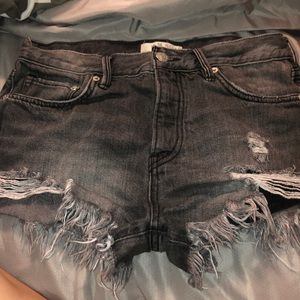 Free People Gray/Black Shorts